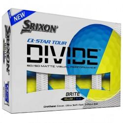 Мячи для гольфа Srixon Q-STAR Tour DIVIDE желтый синий