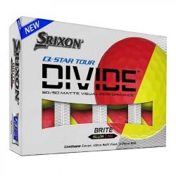 Мячи для гольфа Srixon Q-STAR Tour DIVIDE желтый красный