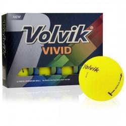 Мячи для гольфа Volvik Vivid желтые
