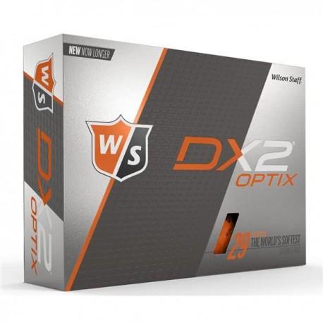 Мячи для гольфа Wilson Staff Dx2 Optix оранжевые