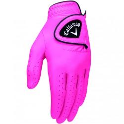 Перчатка для гольфа Callaway Opti Color розовая