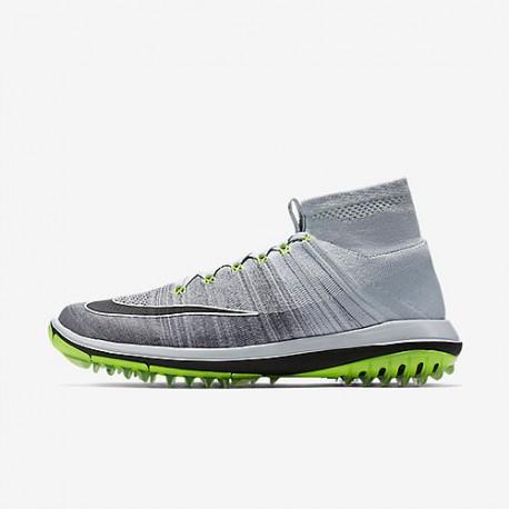 Кроссовки Nike Flyknit Elite - Grey / Green