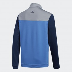 Кофта Adidas Boys Fashion 3-Stripes Half Zip Layer Синяя
