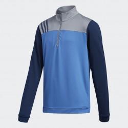 Кофта Adidas Boys Fashion 3-Stripes Half Zip Layer Синяя