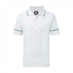 Футболка FootJoy Junior Smooth Pique With Collar&Sleeve Str