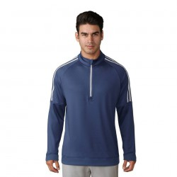 Кофта Adidas 3-Stripes Quarter- Zip синяя