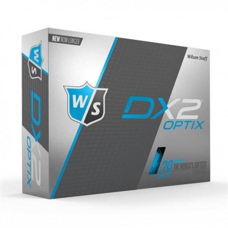 Мячи для гольфа Wilson Staff Dx2 Optix синие