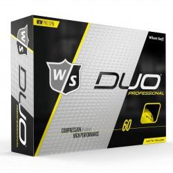 Мячи для гольфа Wilson Staff Duo Professional Matte желтые
