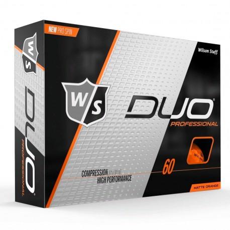 Мячи для гольфа Wilson Staff Duo Professional Matte оранжевые