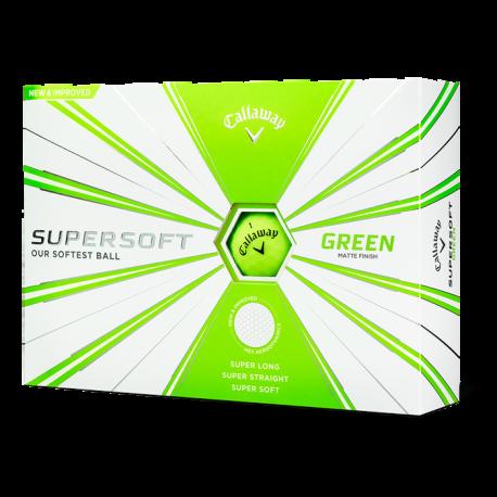Мячи для гольфа Callaway SuperSoft Matte зеленые