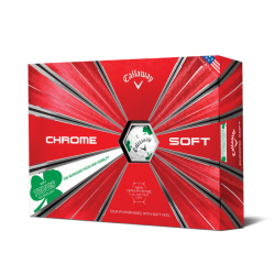 Мячи для гольфа Callaway Chrome Soft TRUVIS Shamrock белые