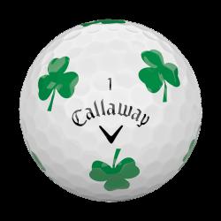 Мячи для гольфа Callaway Chrome Soft TRUVIS Shamrock белые