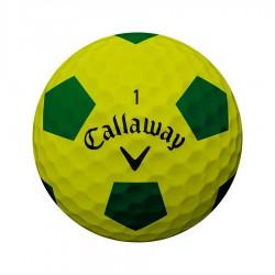 Мячи для гольфа Callaway Chrome Soft TRUVIS желтые/зеленые