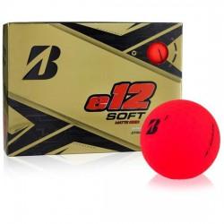 Мячи для гольфа Bridgestone E12 Soft Matte красные