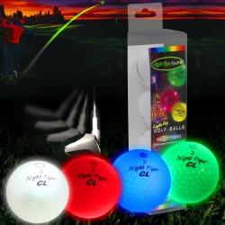Мячи для гольфа Masters Night Flyer Mixed 4 шт. светящиеся